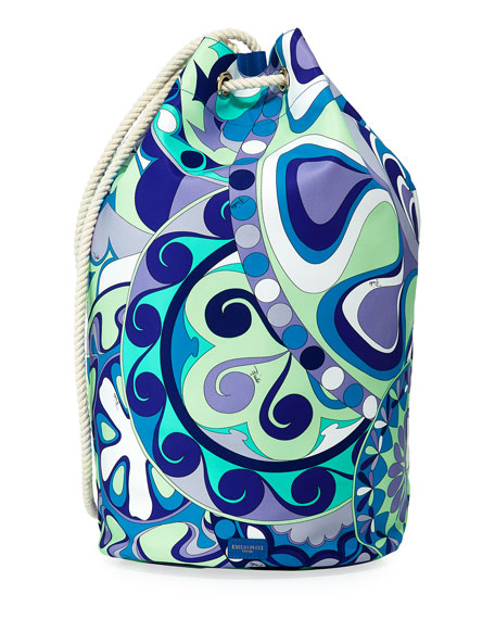 Nigeria Printed Oversized Bucket Bag