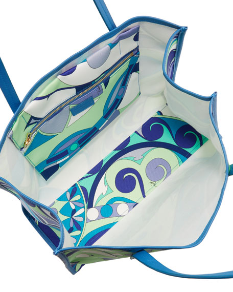 Nigeria-Printed East-West Beach Tote Bag