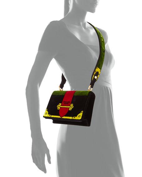 Trompe L'oeil Velvet Cahier Bag