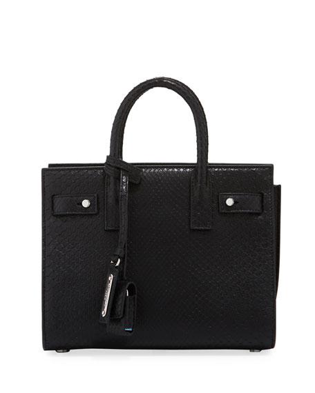 Supple Sac de Jour Python Satchel Bag