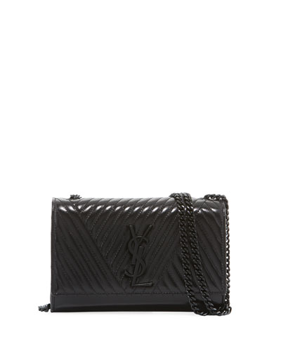 Monogram Kate Small Quilted Leather Chain Shoulder Bag