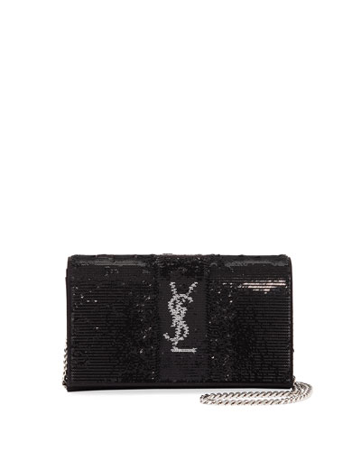 Monogram Paillettes Chain Wallet