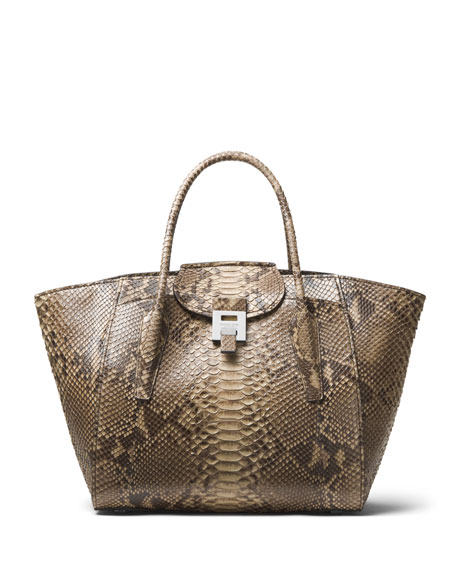 Bancroft Large Python Satchel Bag