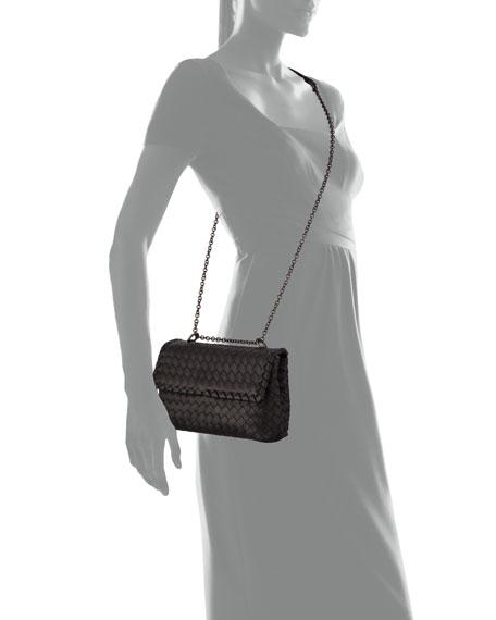 Baby Olimpia Intrecciato Shoulder Bag, Black