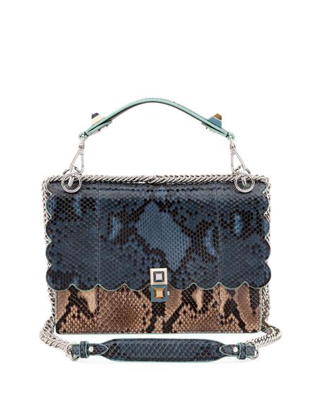 Fendi Kan I Python Shoulder Bag