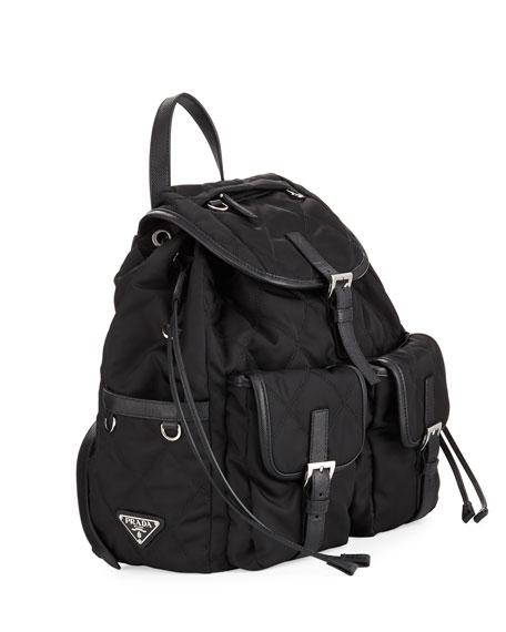 Large Tessuto Impunturato Backpack