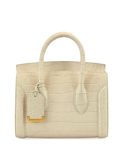 Heroine 21 Mini Croc-Embossed Satchel Bag