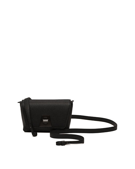 Little Anouk Leather Crossbody Bag - Black