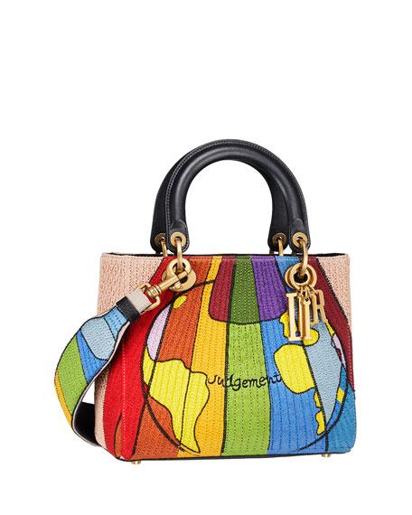 "Lady Dior ""Judgement"" Embroidered Motherpeace Handbag"