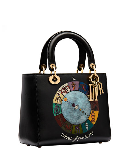 "Lady Dior ""Wheel of Fortune"" Handpainted Motherpeace Tarot Handbag"