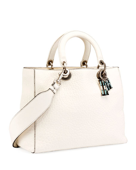 Lady Dior Canyon Grained Lambskin Handbag with Mosaic Motif Charms