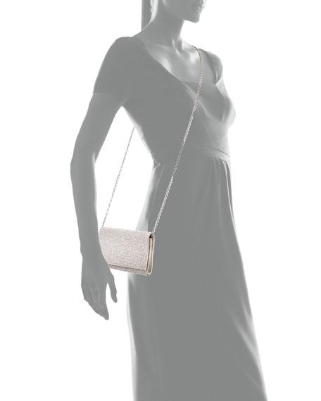 Crystal-Embellished Shoulder Bag