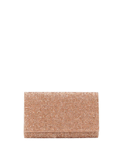 Crystal-Embellished Shoulder Bag