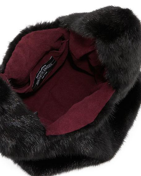 Furrissima Mink Fur Bag, Black