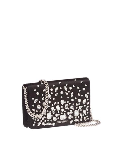 Delice Crystal-Embellished Wallet-on-Chain