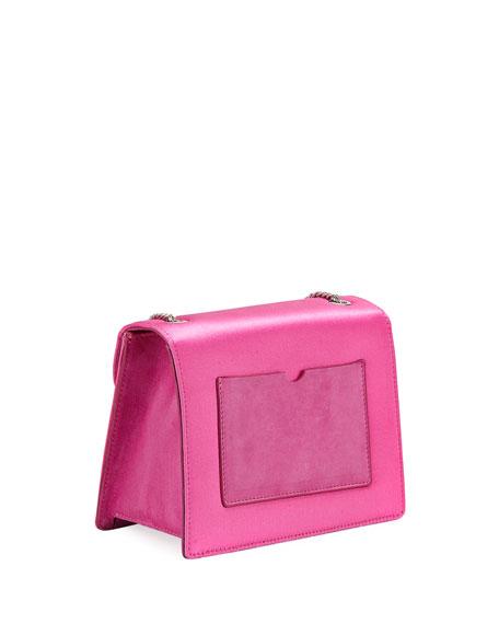 Mini Gardenia Satin Crossbody Bag