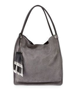 Medium Nubuck Leather Tote Bag