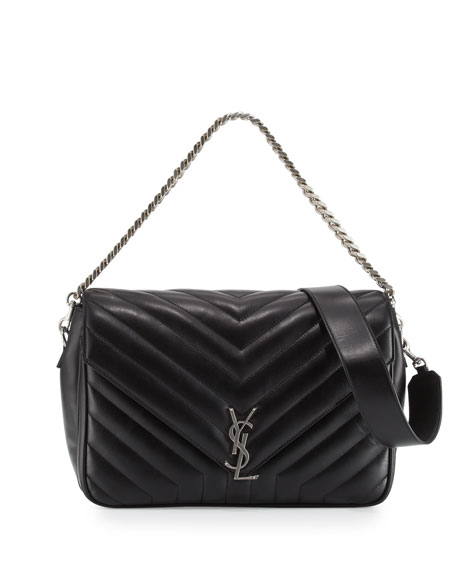 fbf48a8617e Saint Laurent Monogram Large Slouchy Matelassé Leather Shoulder Bag