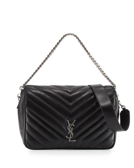 57218823c7 Saint Laurent Monogram Large Slouchy Matelassé Leather Shoulder Bag