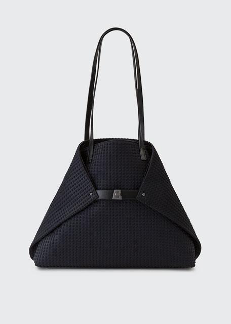 Akris Ai Medium Techno Fabric Shoulder Bag, Black