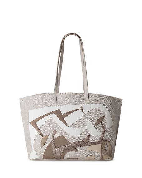 Ai Medium Laser-Cut Tote Bag