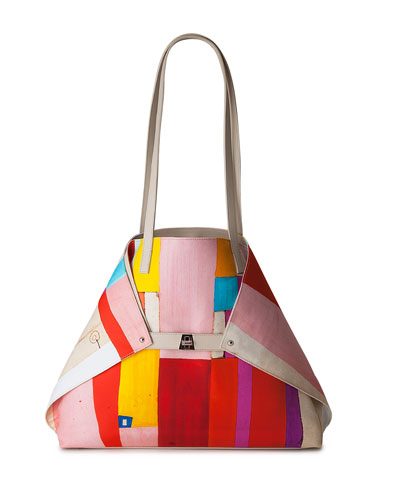 Ai Medium Painted Colorblock Shoulder Bag
