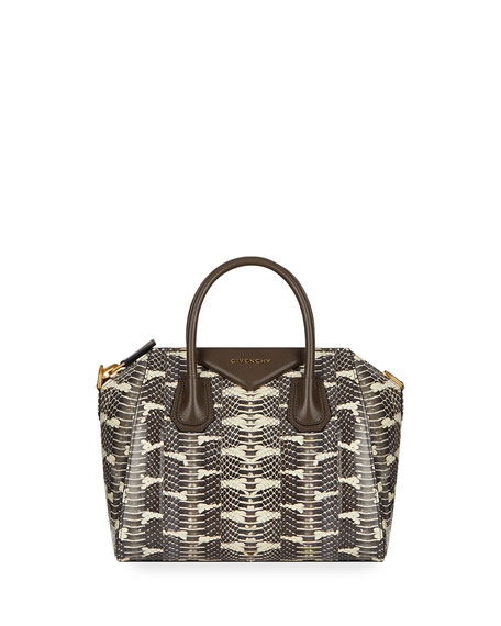 Givenchy  ANTIGONA SMALL PYTHON SATCHEL BAG