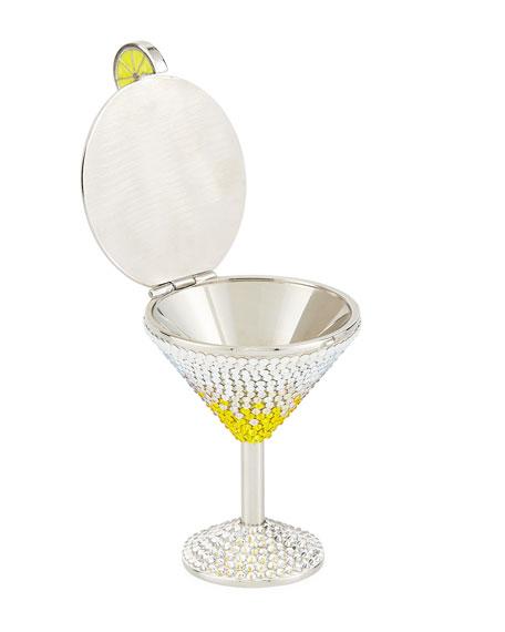 Crystal Martini Pillbox