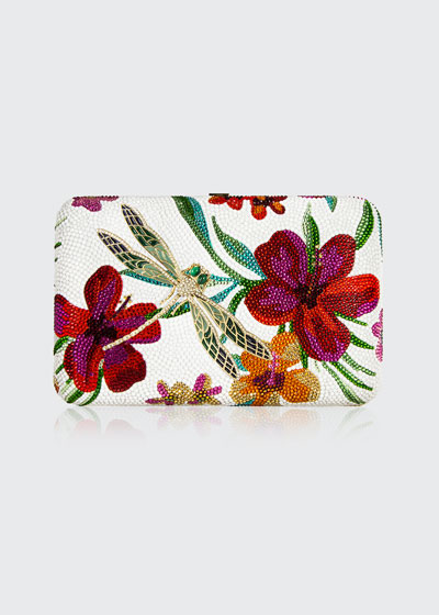 Seamless Hibiscus Crystal Clutch Bag
