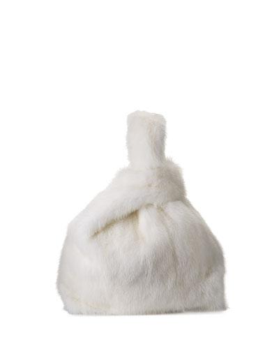 FURRISIMMA MINK BAG WHITE LI