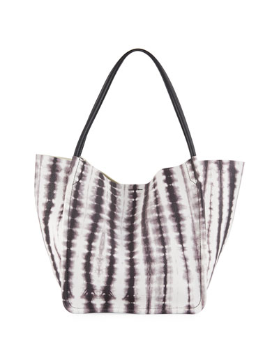 15th Anniversary Large Tie-Dye Leather Tote Bag