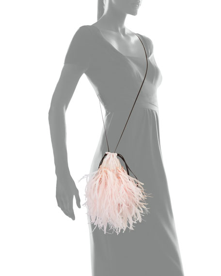 Small Feather Shoulder Pouch Bag