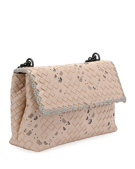 Olimpia Intrecciato Butterfly Shoulder Bag