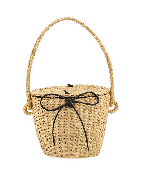 13ab96b29973 MUUN Lou Straw Basket Bag