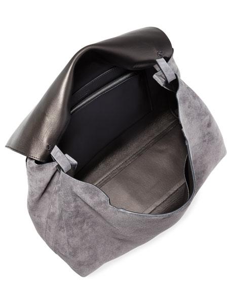 Top-Handle 14 Suede Satchel Bag