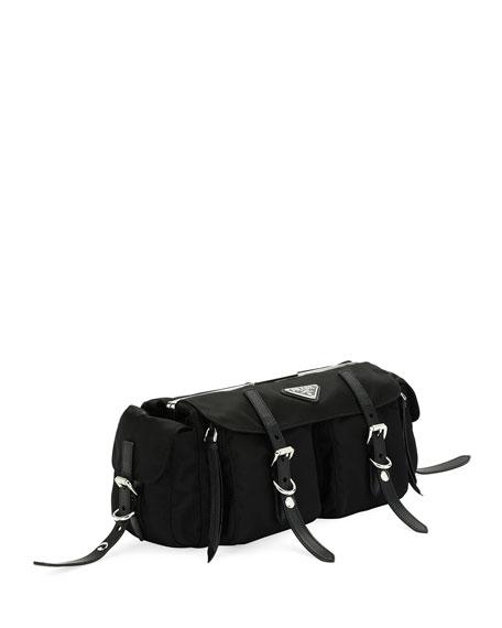 Vela Nylon Double Buckle Belt Bag