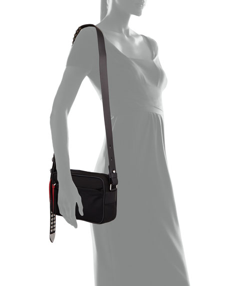 61fb9c21c3bc Prada Prada Nylon Shoulder Bag with Studding