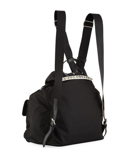 be70a49a6076 Prada Prada Black Nylon Backpack with Studding