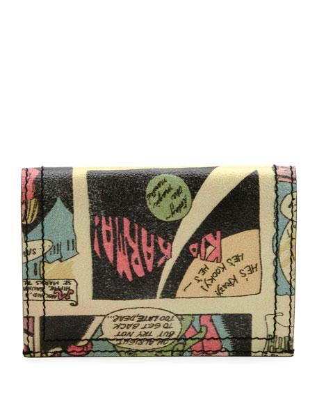 Vintage Comic-Print Bi-Fold Wallet