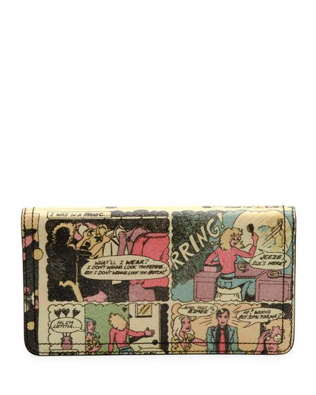 Vintage Comic-Print Wallet-on-Chain