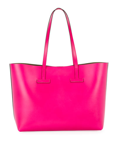 Small T Saffiano Tote Bag
