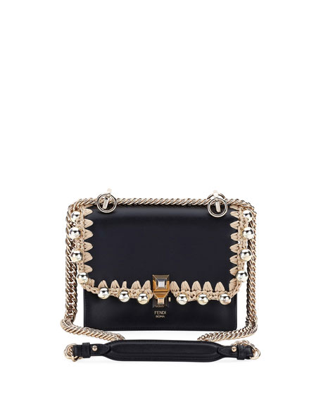 Fendi Kan I Pearly Edge Chain Shoulder Bag IbiKppTc