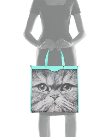 Mesh Kitsch Cat Tote Bag