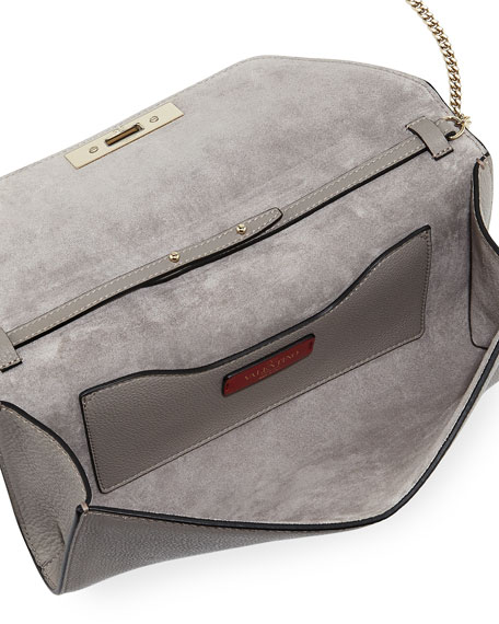 Demilune Rockstud Chain Clutch Bag