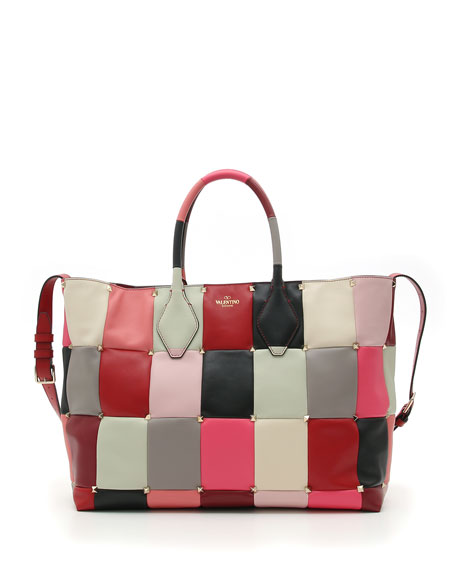 PuzzleStud Quilted Tote Bag
