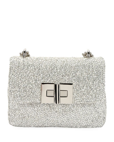 Natalia Small Crystal-Embellished Shoulder Bag