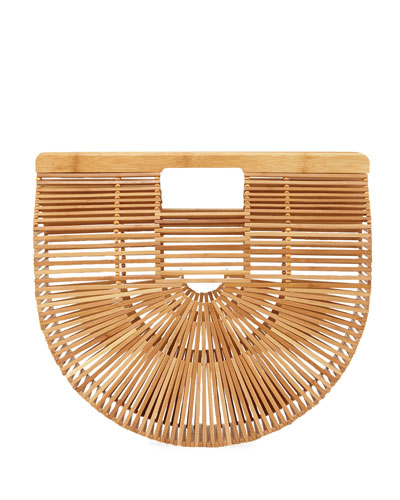 Bamboo Ark Large Top Handle Bag, Light Brown