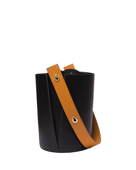 Mini Lorna Colorblock Leather Hobo Bag