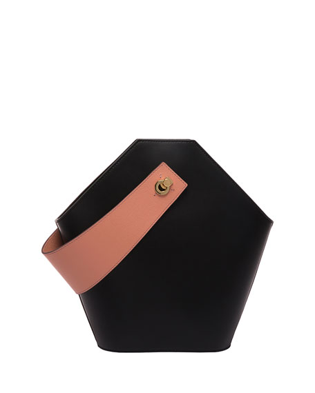 Johnny Leather Hexagon Shoulder Bag