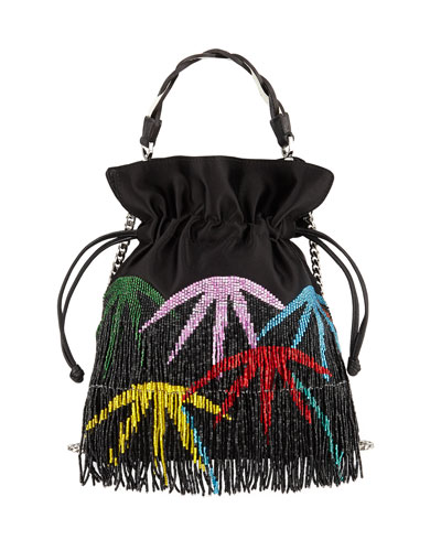 Fringe Palm Trilly Pouch Bag